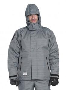 500 bar jakke grå